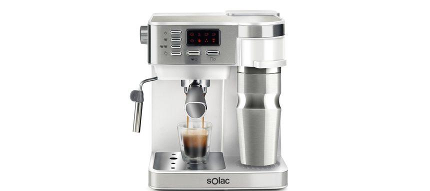 Solac Multi Stillo, una cafetera de goteo, expresso y capuccino