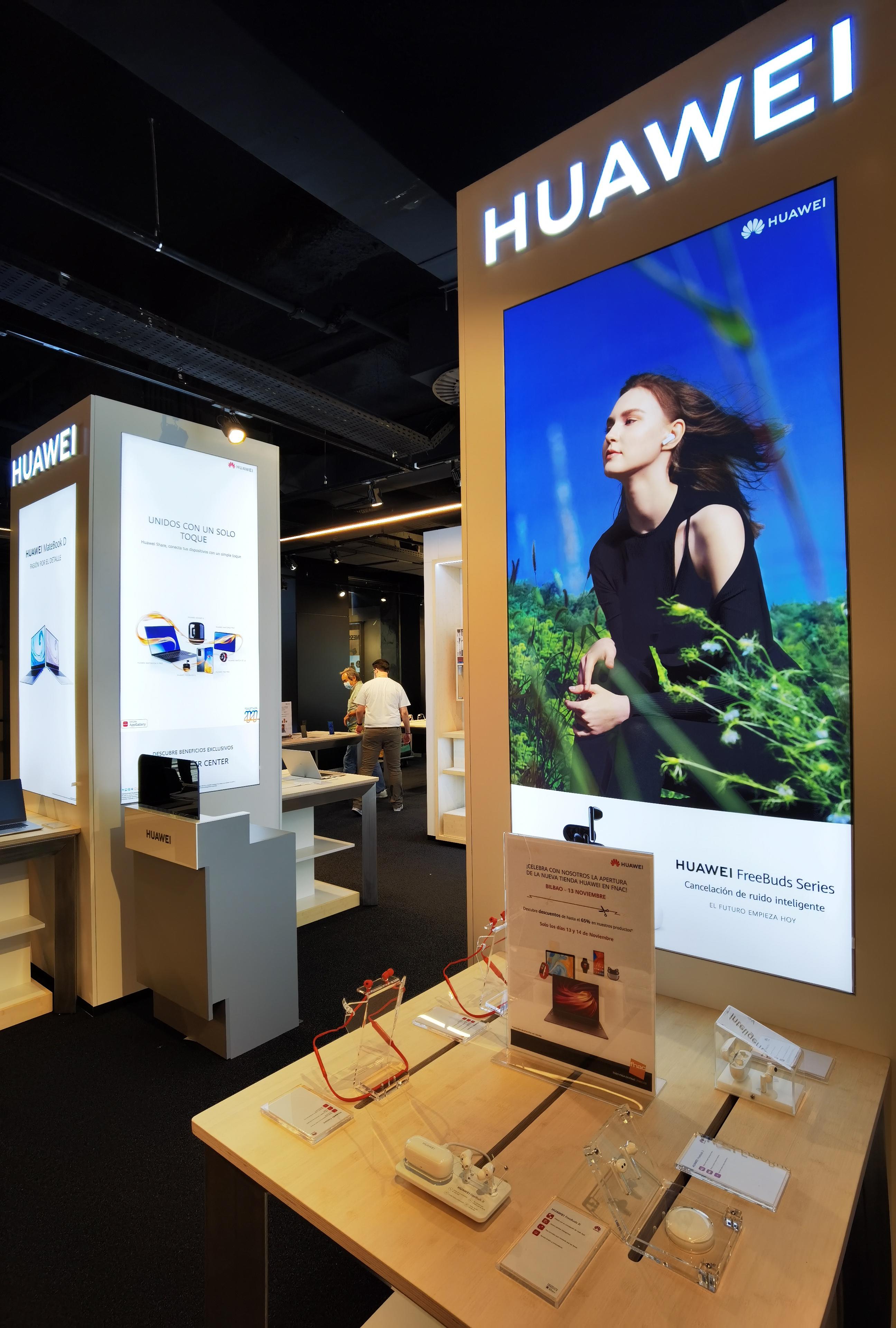 Huawei abre una 'Huawei Store' en Barcelona y Bilbao y prepara su entrada en A Coruña