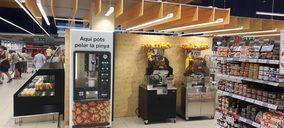 Bon Preu instala pelapiñas de Piñabar para impulsar sus Espai Fruits