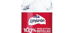 Todos los formatos de 'Lanjarón' serán 100% de r-PET en 2021