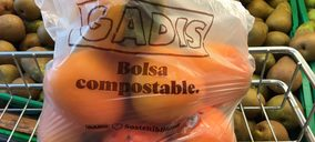 Gadisa introduce bolsas biodegradables en sus secciones de frescos