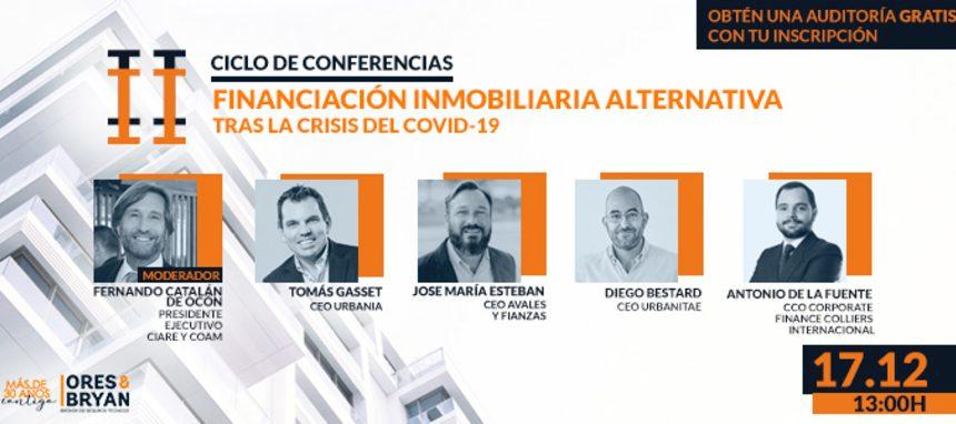 Éxito del segundo Ciclo de conferencias sobre Financiación Alternativa Inmobiliaria tras la crisis del Covid-19