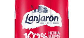 'Lanjarón' presenta su botella de 50 cl con un 100% de plástico reciclado
