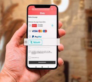 DIA incorpora el pago por Bizum en su tienda online