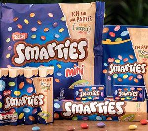 Nestlé implanta un envase sostenible en Smarties
