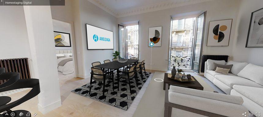 Areizaga Inmobiliaria incorpora las visitas 3D a inmuebles con mobiliario virtual