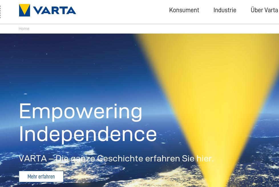 Nueva identidad de marca para Varta
