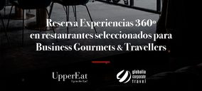 UpperEat gestionará las reservas de sus restaurantes a los clientes de Globalia Corporate Travel