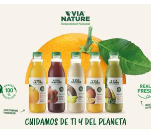 Via Nature se renueva con un envase 100% reciclado y aborda otros mercados