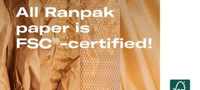 Ranpak obtiene la certificación FSC para todos sus embalajes de papel