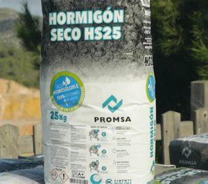 Promsa lanza hormigón seco en sacos hidrosolubles