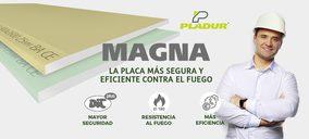 Pladur presenta la placa Magna, segura y eficiente contra el fuego