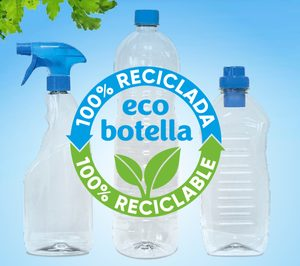 'Sanicentro' renueva su imagen con botellas de plástico 100% reciclado y 100% reciclables