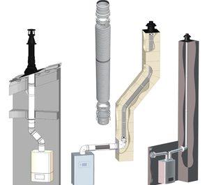 Aúna presenta gama de chimeneas para calderas de su marca Cabel