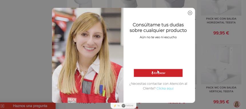 Brico Depôt implementa el videochat como nueva herramienta de atención a cliente en su ecommerce