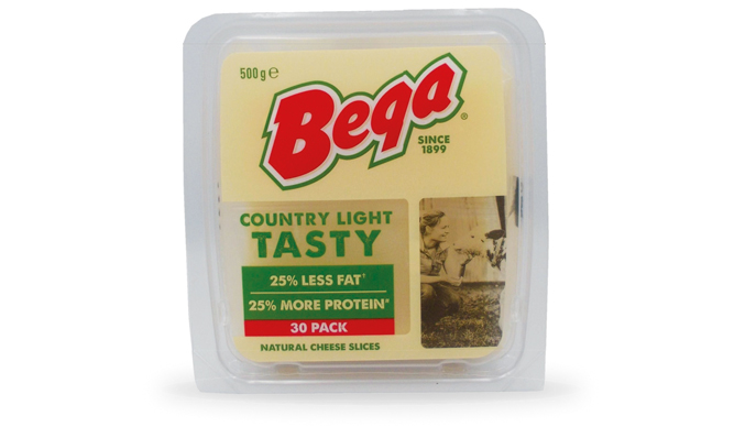 Bega Country Light Tasty Natural Cheese Slices (7)