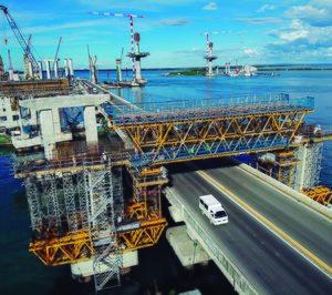 Encofrados ULMA en la infraestructura filipina Cebu Cordova Link Expressway