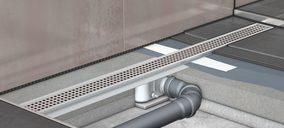 ACO lanza canal de ducha con tela impermeable incorporada