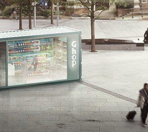 La start-up Ghop presenta su modelo de comercio sin personal con una tienda efímera