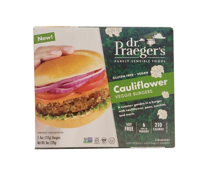 Hamburguesas vegetarianas Dr. Praeger's Purely Sensible Foods Cauliflower Veggie Burgers (4)