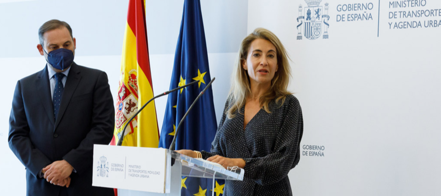 Raquel Sánchez sucede a José Luis Ábalos al frente del Ministerio de Transportes