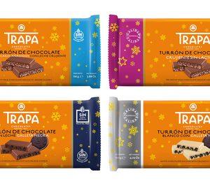 Trapa añade diferenciación al turrón de chocolate crujiente