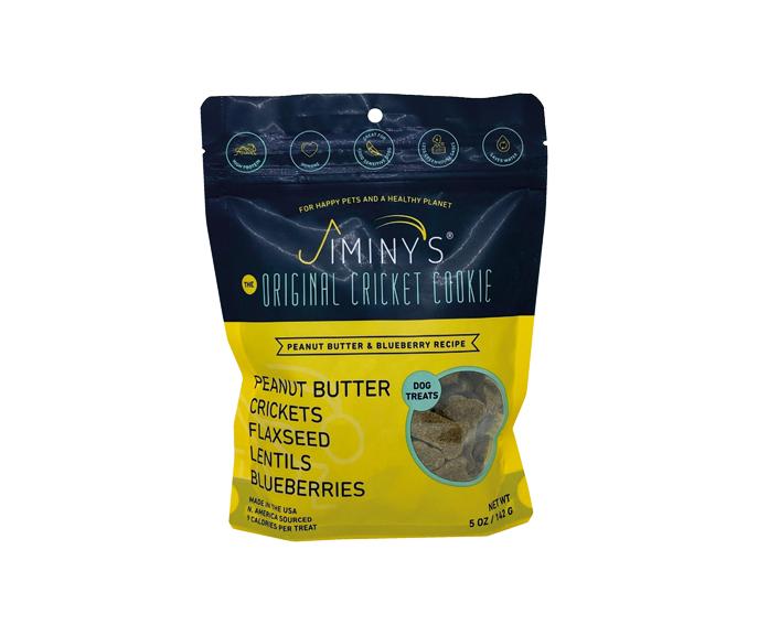 Mantequilla de cacahuete y arándanos Cricket Cookie Dog Treats (3)