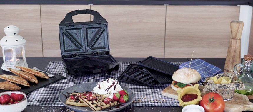 Ufesa Cook&Fun: sandwichera, grill y gofrera