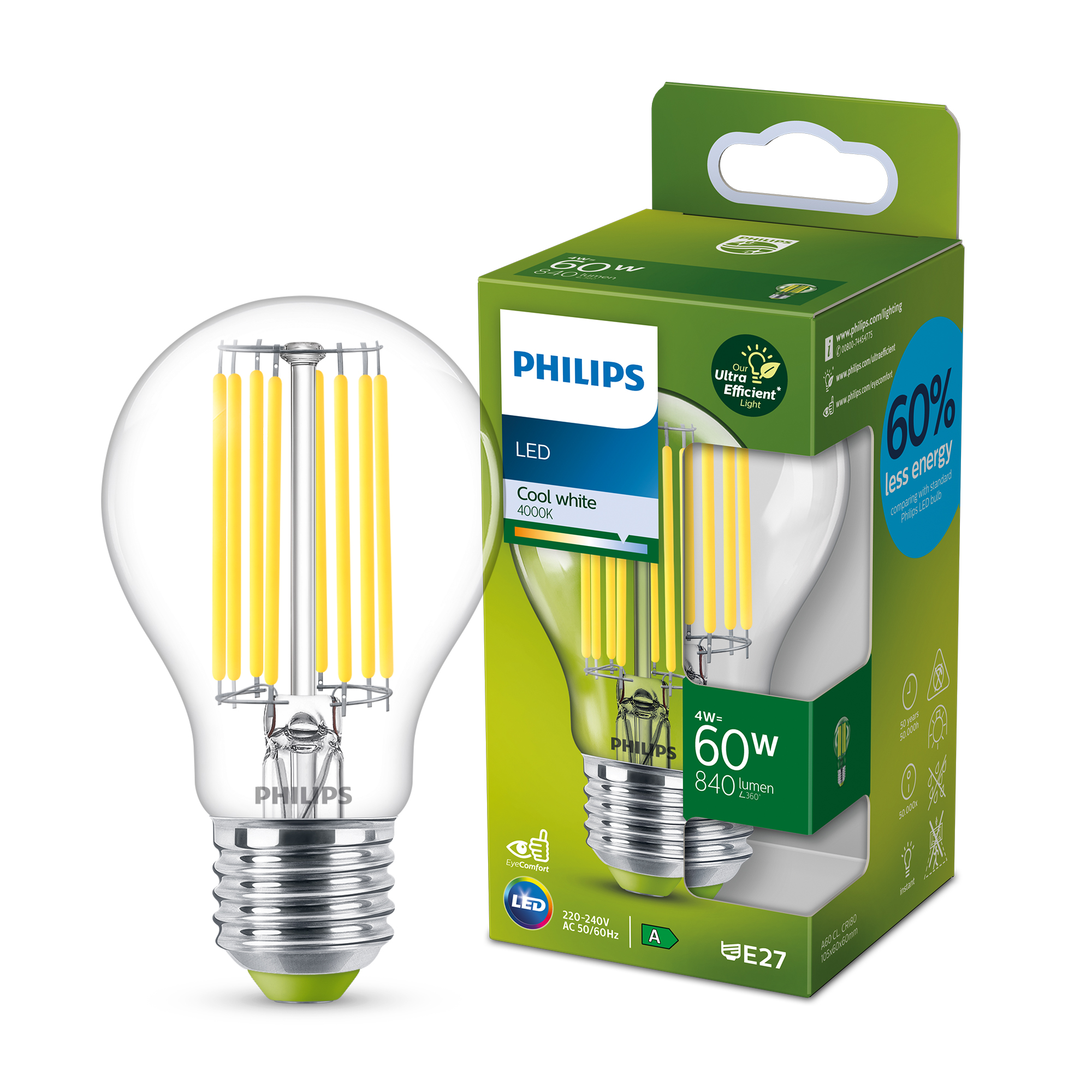 Signify lanza las bombillas LED clase A de Philips que pueden durar medio siglo