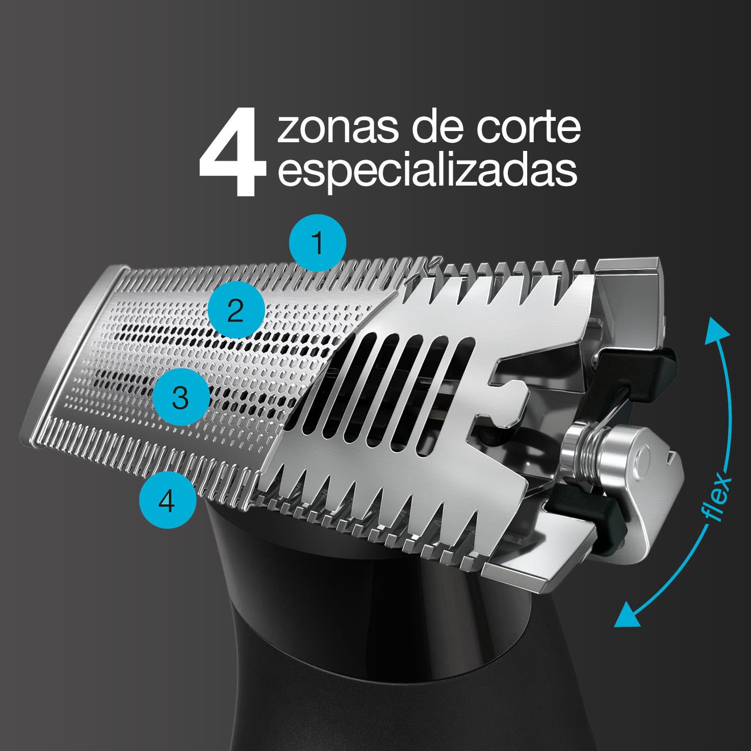 Braun Series X: afeita, recorta y perfila en seco o en mojado