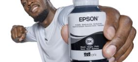 Epson y Usain Bolt firman un acuerdo de colaboración para promover la impresión sin cartuchos