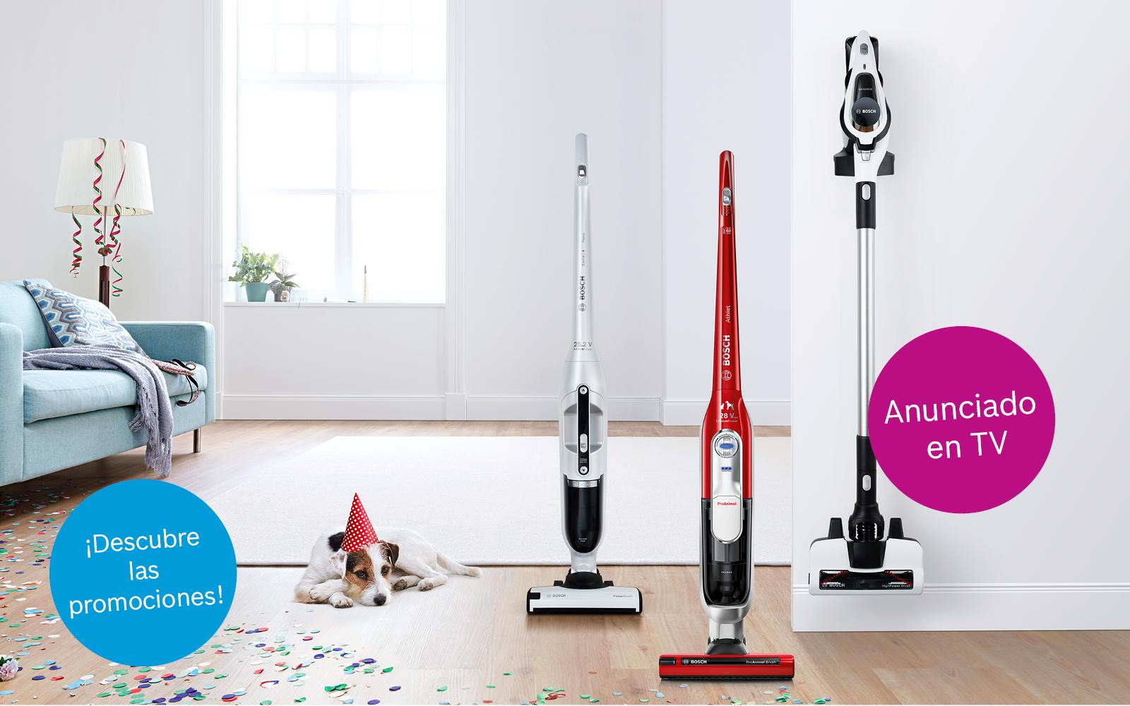 Sin cables, sin límites. La nueva campaña de aspiración vertical Bosch.